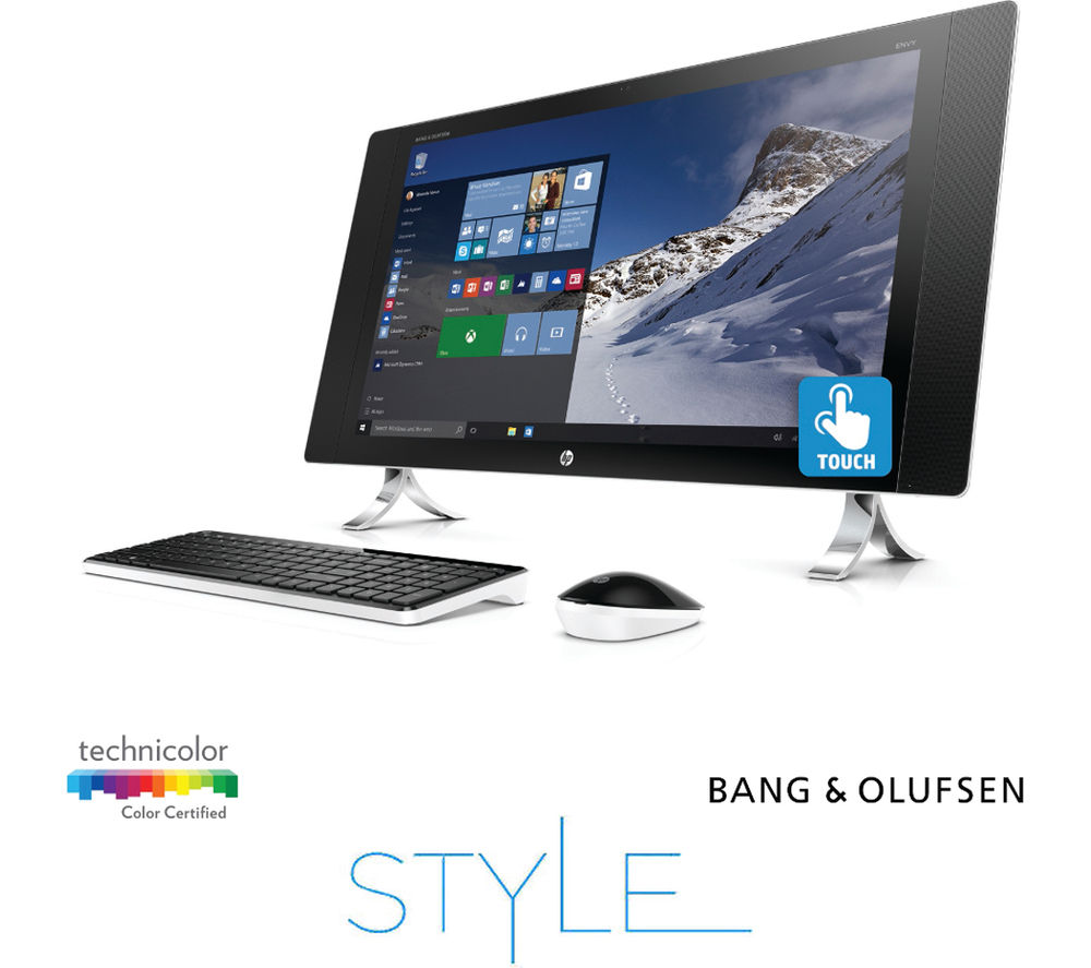 buy hp envy 27 p099na 27 4k touchscreen all in one pc free delivery currys. Black Bedroom Furniture Sets. Home Design Ideas