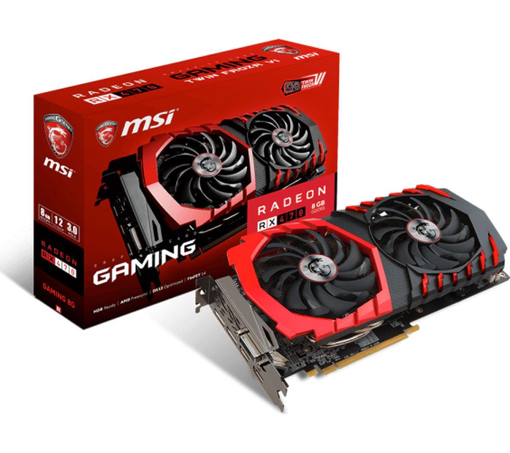 MSI Radeon RX 470 GAMING X 8G Graphics Card
