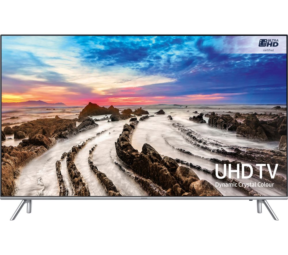 "SAMSUNG UE55MU7000 55"" Smart 4K Ultra HD HDR LED TV + Sound+ HW-MS650 3.0 All-in-One Sound Bar"