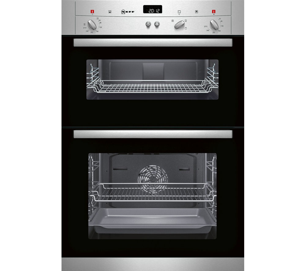 Buy neff u12s32n3gb electric double oven stainless steel free delivery currys - Neff electric ...