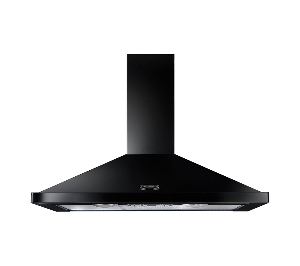 RANGEMASTER LEIHDC90BB Chimney Cooker Hood - Black & Brass