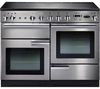 RANGEMASTER Professional+ 110 Electric Induction Range Cooker - Stainless Steel & Chrome
