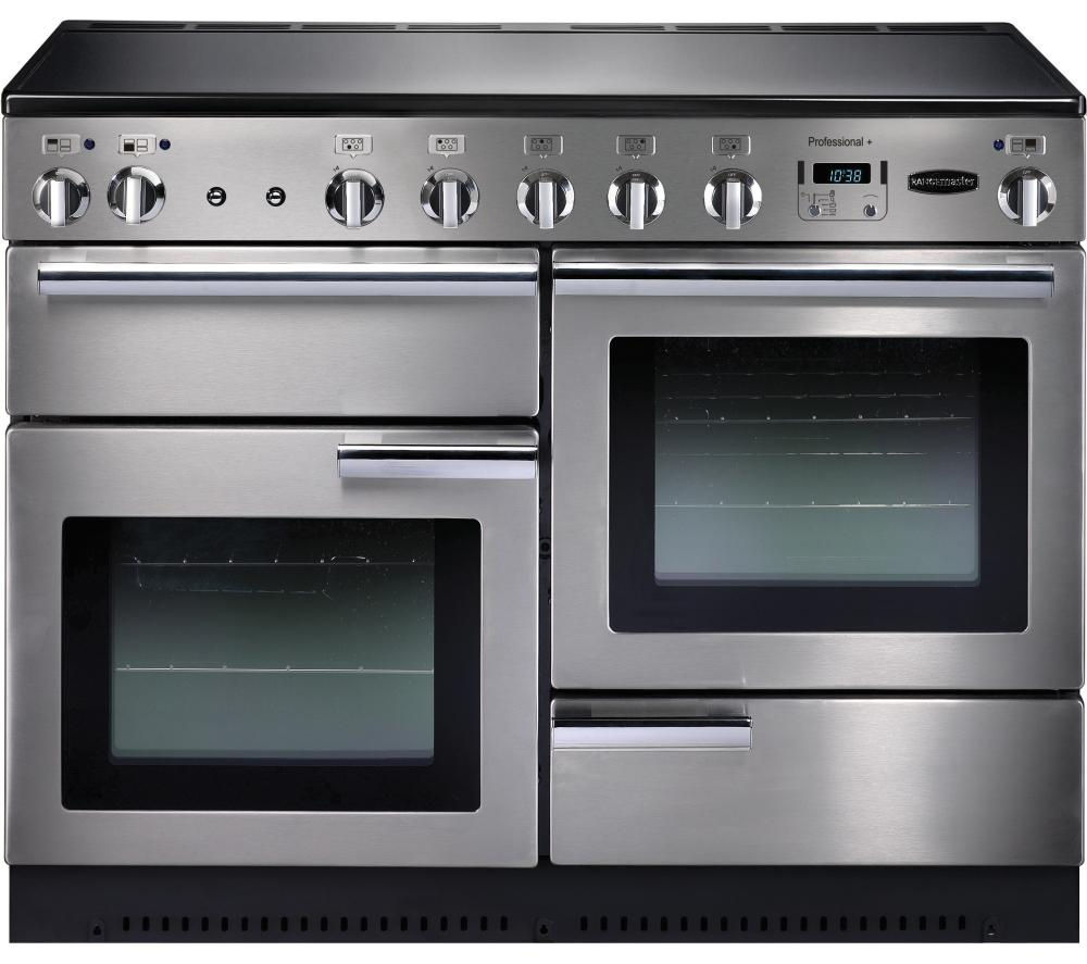 RANGEMASTER  Professional 110 Electric Induction Range Cooker  Stainless Steel & Chrome Stainless Steel