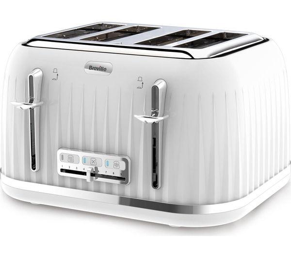 Breville VTT470 4 Slice Toaster   White, White