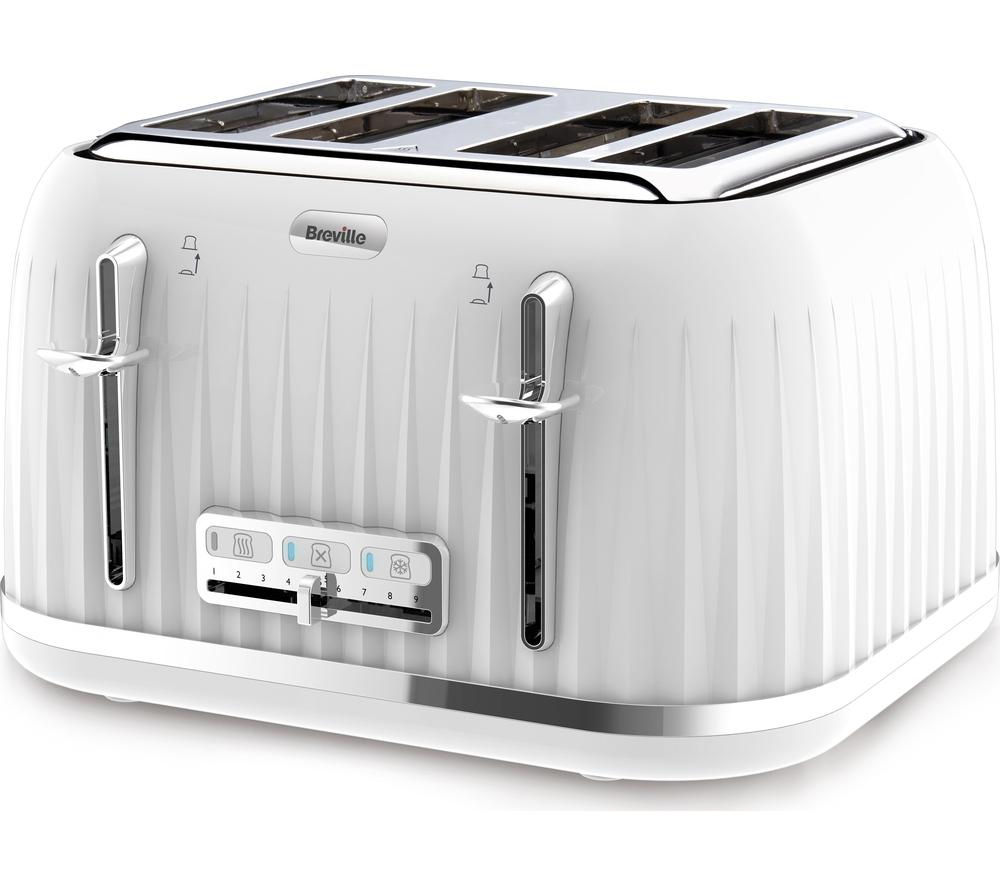 BREVILLE  Impressions VTT470 4-Slice Toaster - White +  Impressions VKJ738 Jug Kettle - White