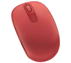 MICROSOFT 1850 Wireless Mobile Optical Mouse - Red