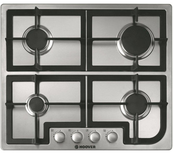 HOOVER  HGH64SCX Gas Hob  Stainless Steel Stainless Steel