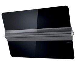 ELICA Barre Decorative Wall Mounted Cooker Hood - Black Glass & Stainless Steel