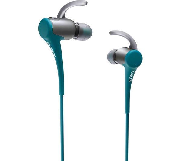 Image of SONY MDR-AS800BT Wireless Bluetooth Headphones - Blue & Black