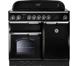RANGEMASTER Classic 100 Electric Induction Range Cooker - Black & Chrome