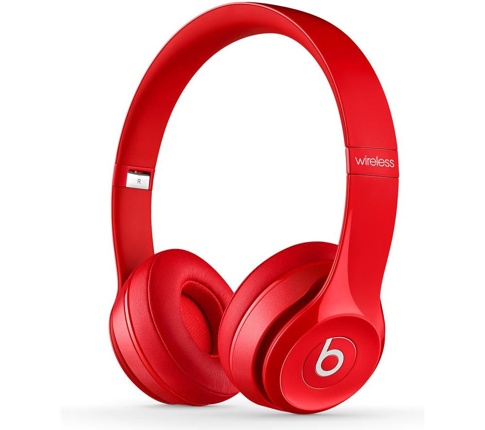 beats by dr dre solo 2 wireless bluetooth headphones red. Black Bedroom Furniture Sets. Home Design Ideas