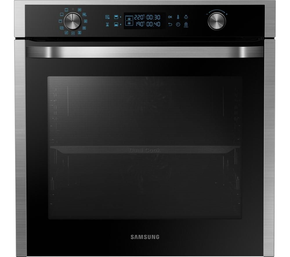 buy samsung dual cook nv75j5540rs electric oven stainless steel free delivery currys. Black Bedroom Furniture Sets. Home Design Ideas