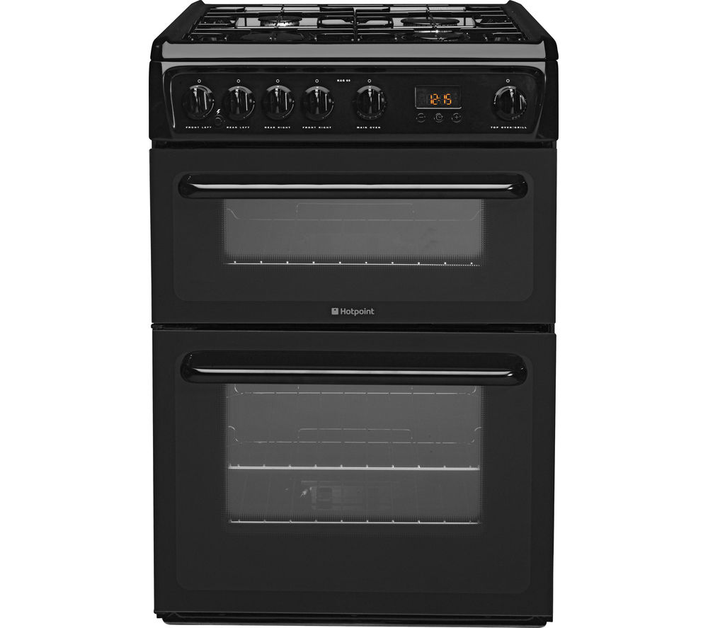 Buy HOTPOINT HAG60K 60 cm Gas Cooker - Black | Free ...