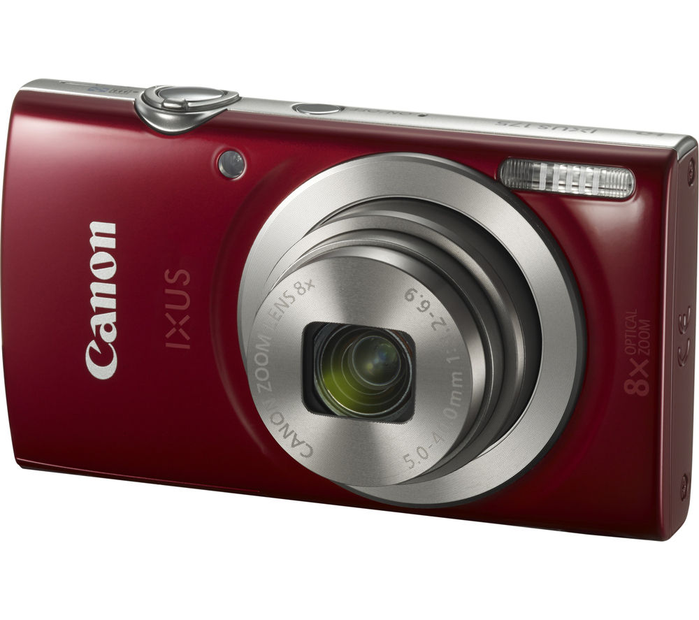 Image of CANON IXUS 175 Compact Camera - Red, Red