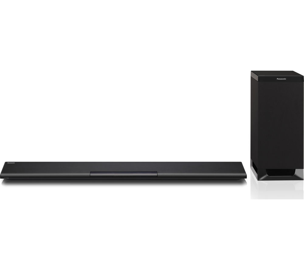 panasonic sc htb385ebk 2 1 channel sound bar with wireless. Black Bedroom Furniture Sets. Home Design Ideas