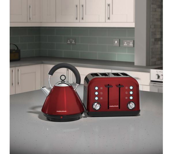 buy morphy richards accents 242030 4 slice toaster red. Black Bedroom Furniture Sets. Home Design Ideas