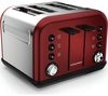 MORPHY RICHARDS Accents 242030 4-Slice Toaster - Red