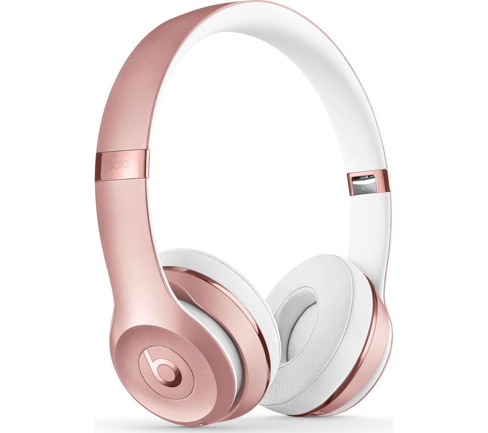 buy beats by dr dre solo 3 wireless bluetooth headphones rose gold free delivery currys. Black Bedroom Furniture Sets. Home Design Ideas