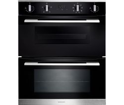 RANGEMASTER RMB7248BL/SS Electric Built-under Double Oven - Black