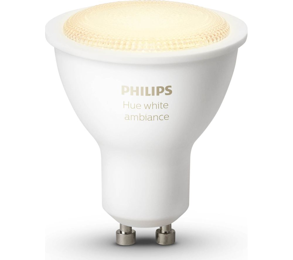buy philips hue white ambiance wireless bulb gu10 free delivery currys. Black Bedroom Furniture Sets. Home Design Ideas