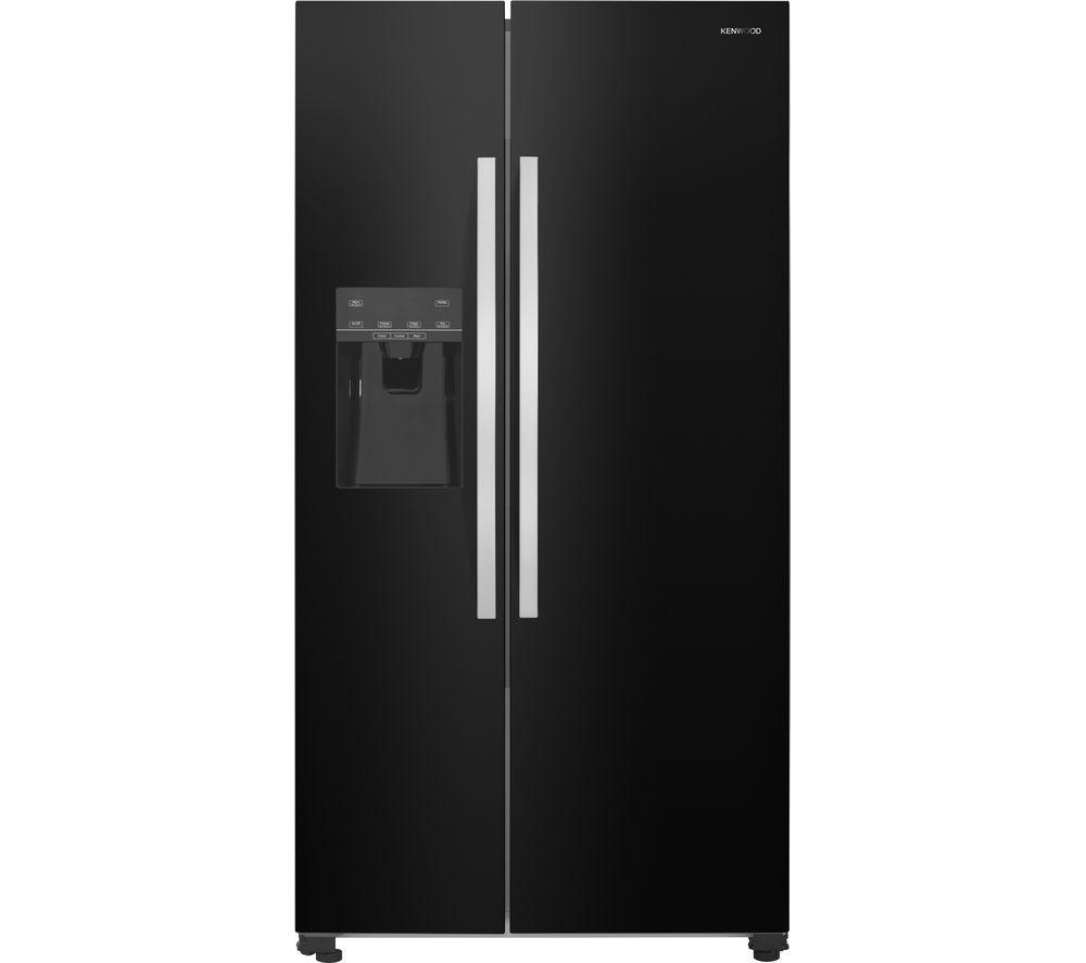 KENWOOD KSBSDIB17 AmericanStyle Fridge Freezer  Black Black
