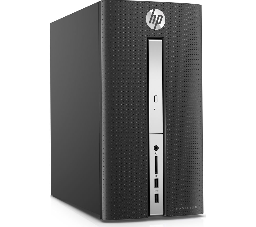 buy hp pavilion 570 p056na desktop pc free delivery currys. Black Bedroom Furniture Sets. Home Design Ideas