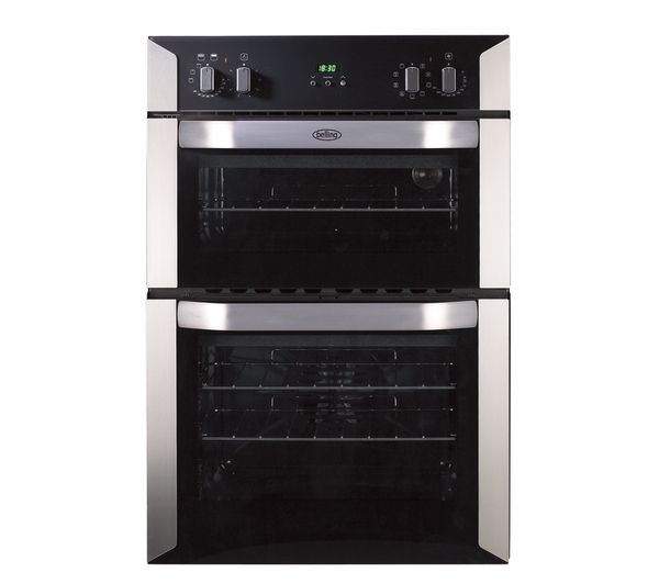 Buy Belling Bi90mf Electric Double Oven Stainless Steel
