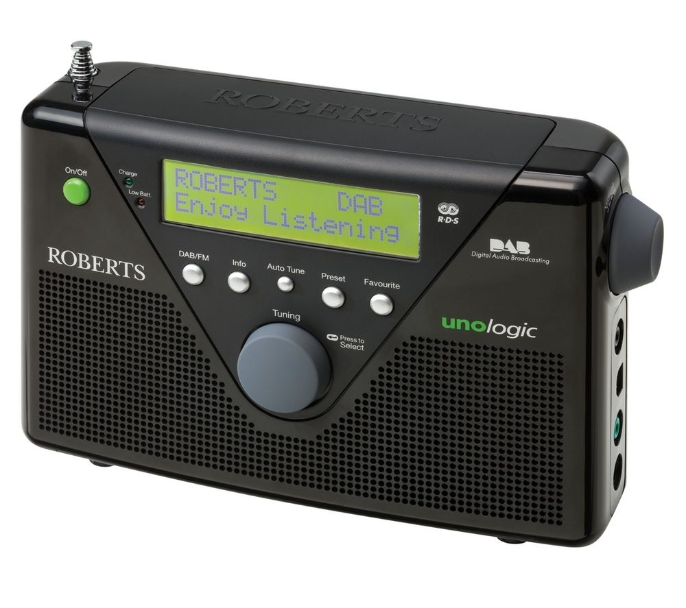 ROBERTS Unologic Portable DAB Radio - Black