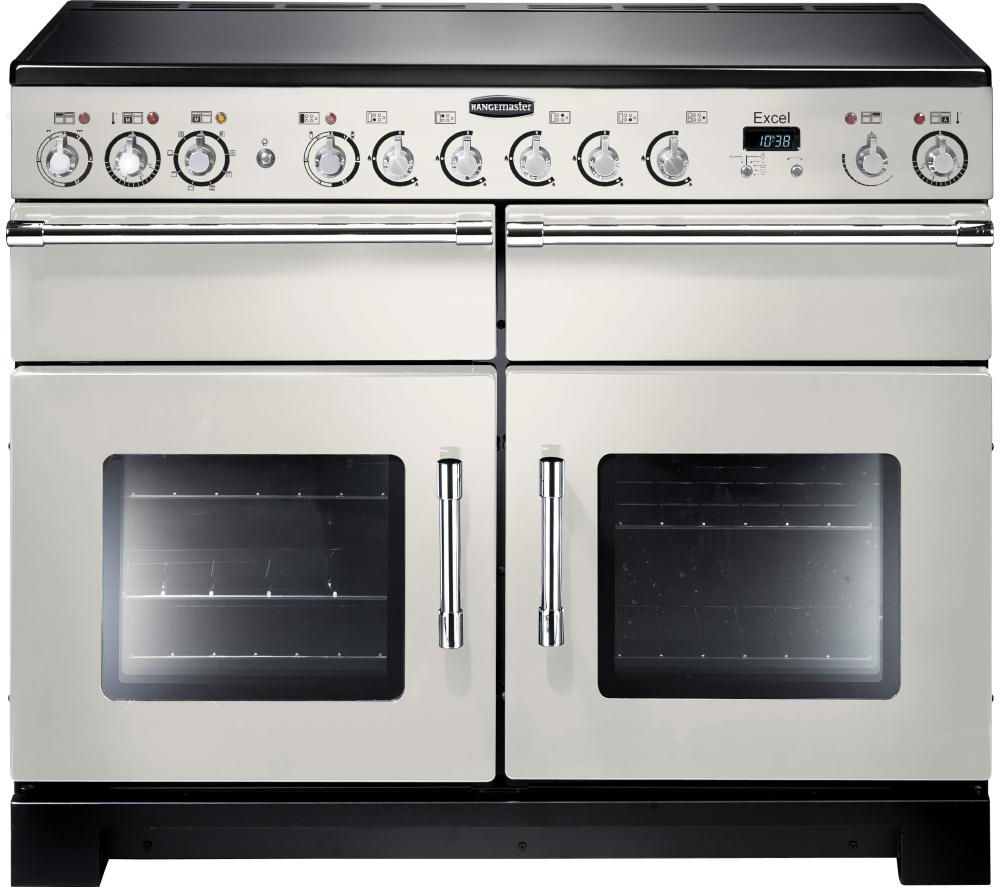 RANGEMASTER Excel 110 Electric Ceramic Range Cooker - Ivory & Chrome