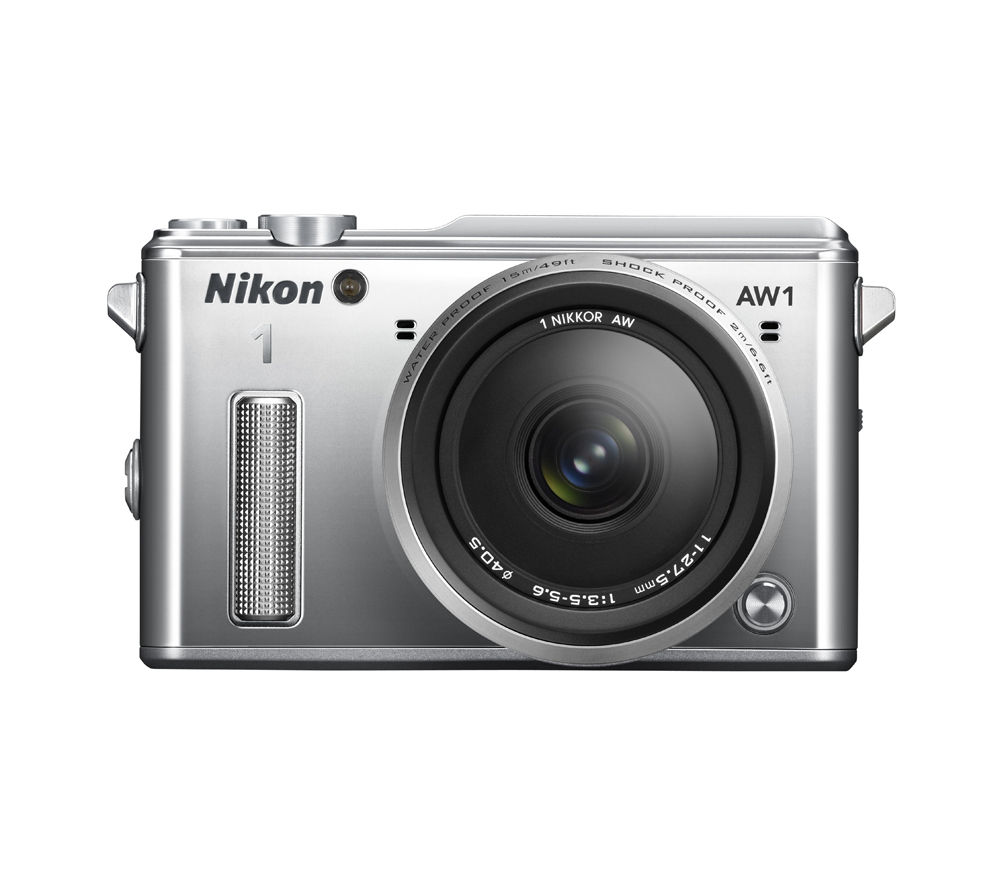 NIKON 1 AW1 Compact System Camera with 11-27.5 mm f/3.5-5.6 Zoom Lens - Silver