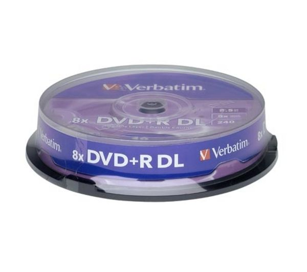 VERBATIM 43666 DVD+R 8x Double-layer 10 pack Spindle
