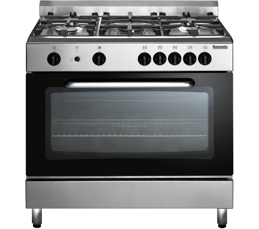 Image of BAUMATIC BC190.2TCSS Gas Range Cooker - Stainless Steel, Stainless Steel