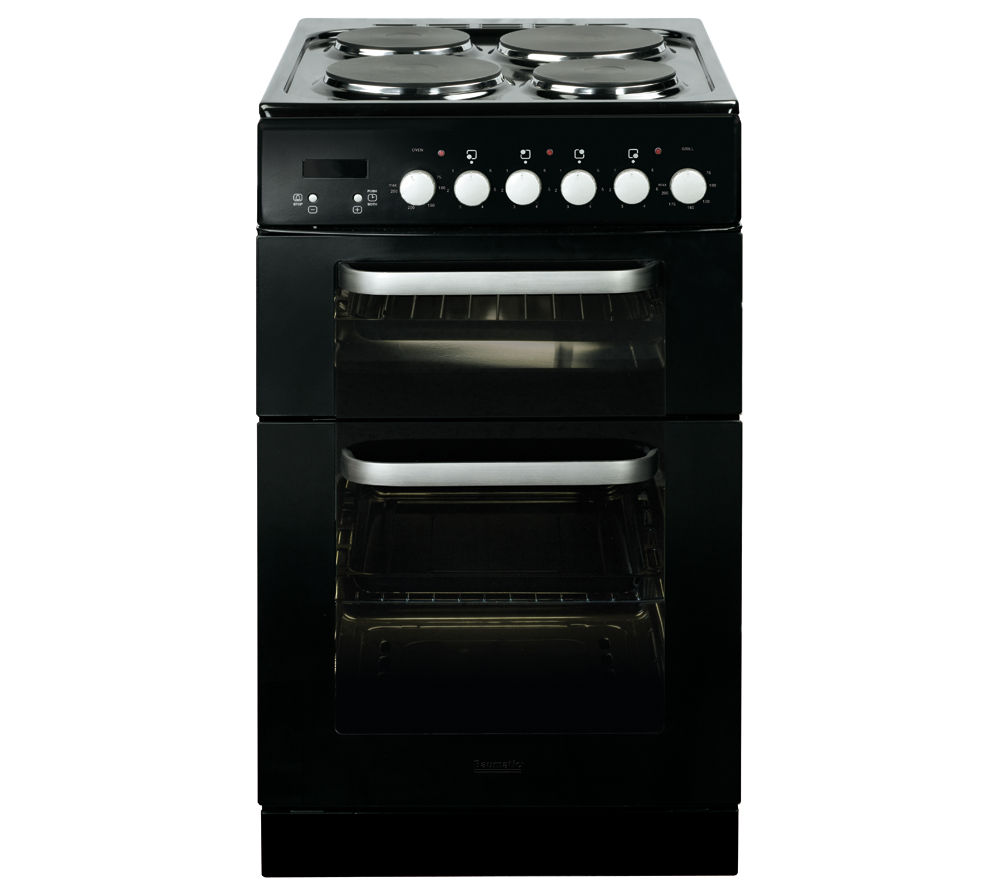 BAUMATIC BCE520BL Electric Solid Plate Cooker - Black