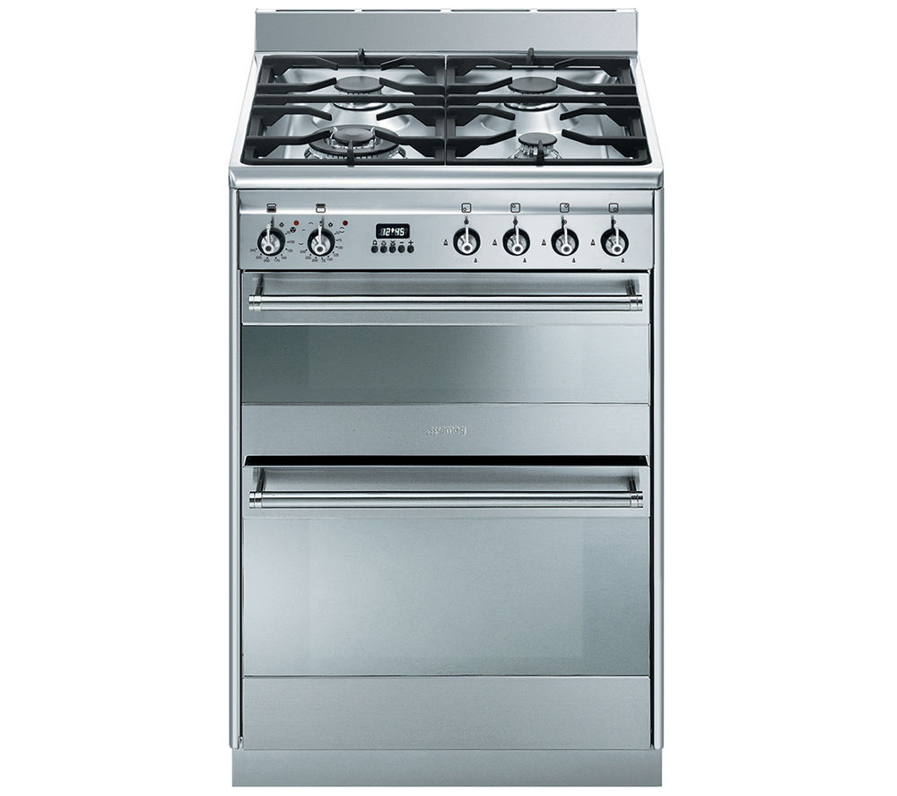 Buy Smeg Concert 60 Dual Fuel Cooker Stainless Steel