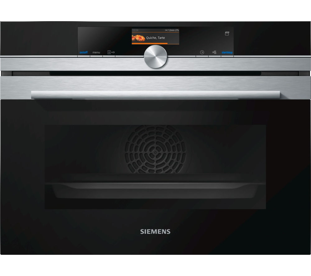 Image of Siemens CS656GBS1B Compact Electric Steam Oven - Stainless Steel, Stainless Steel