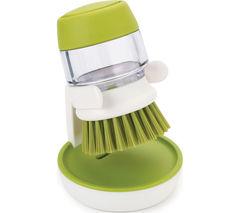 JOSEPH JOSEPH Palm Scrub Washing-Up Brush - White & Green