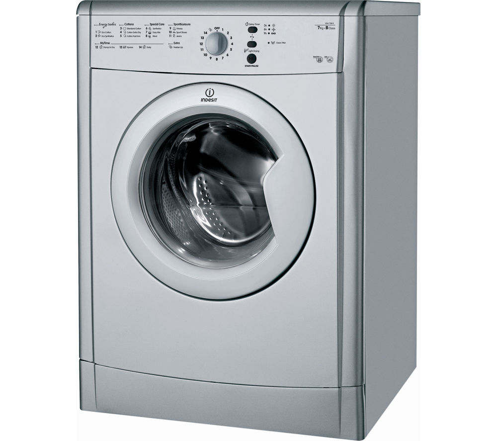 INDESIT  EcoTime IDVL75BRS Vented Tumble Dryer  Silver Silver