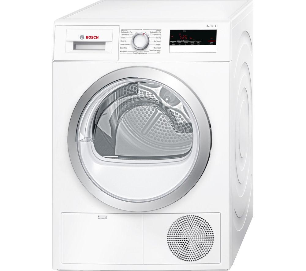 Image of BOSCH WTN85200GB Condenser Tumble Dryer - White, White