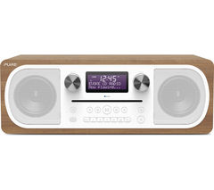 PURE Evoke C-D6 DAB+/FM Bluetooth Clock Radio - Walnut