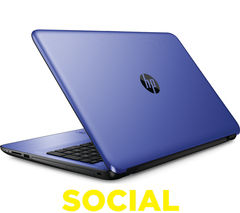 "HP 15-ba080sa 15.6"" Laptop - Blue"
