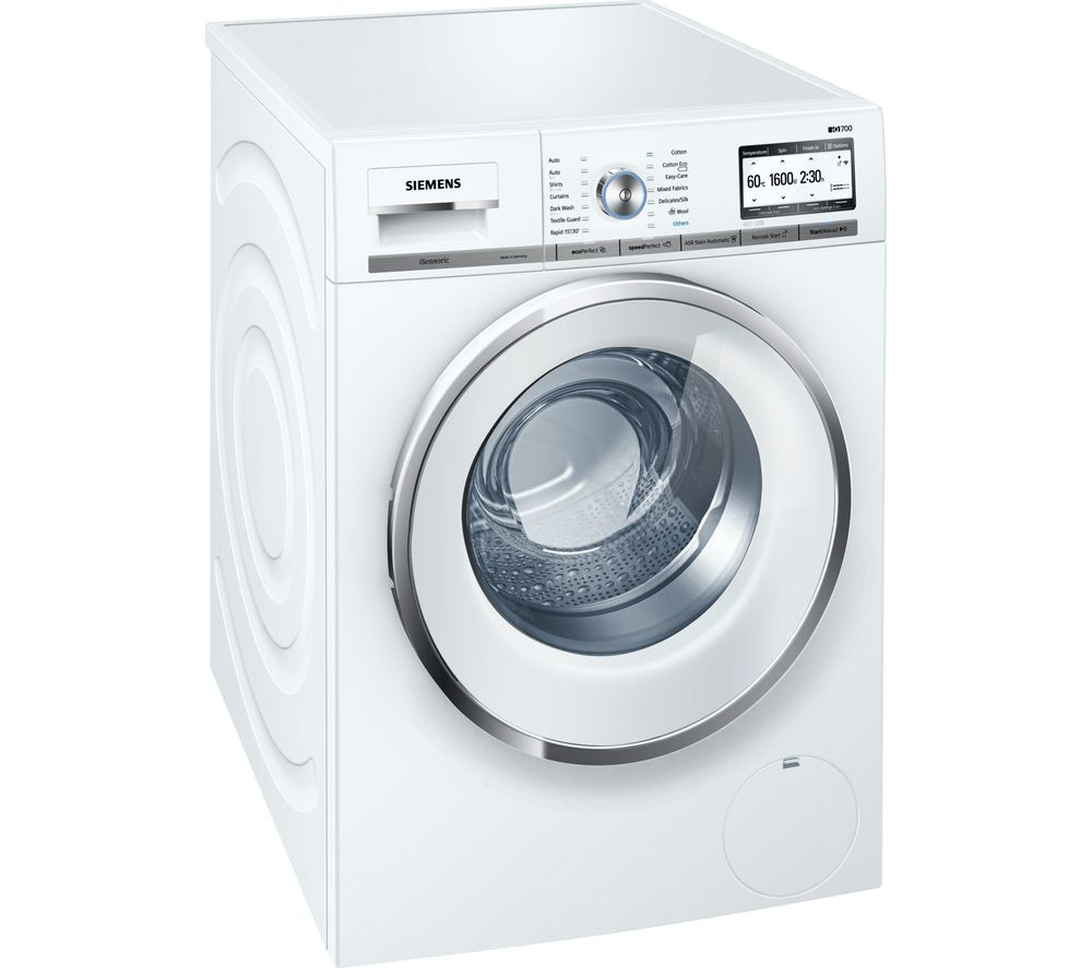 buy siemens iq700 wmh6y790gb smart washing machine white free delivery currys. Black Bedroom Furniture Sets. Home Design Ideas