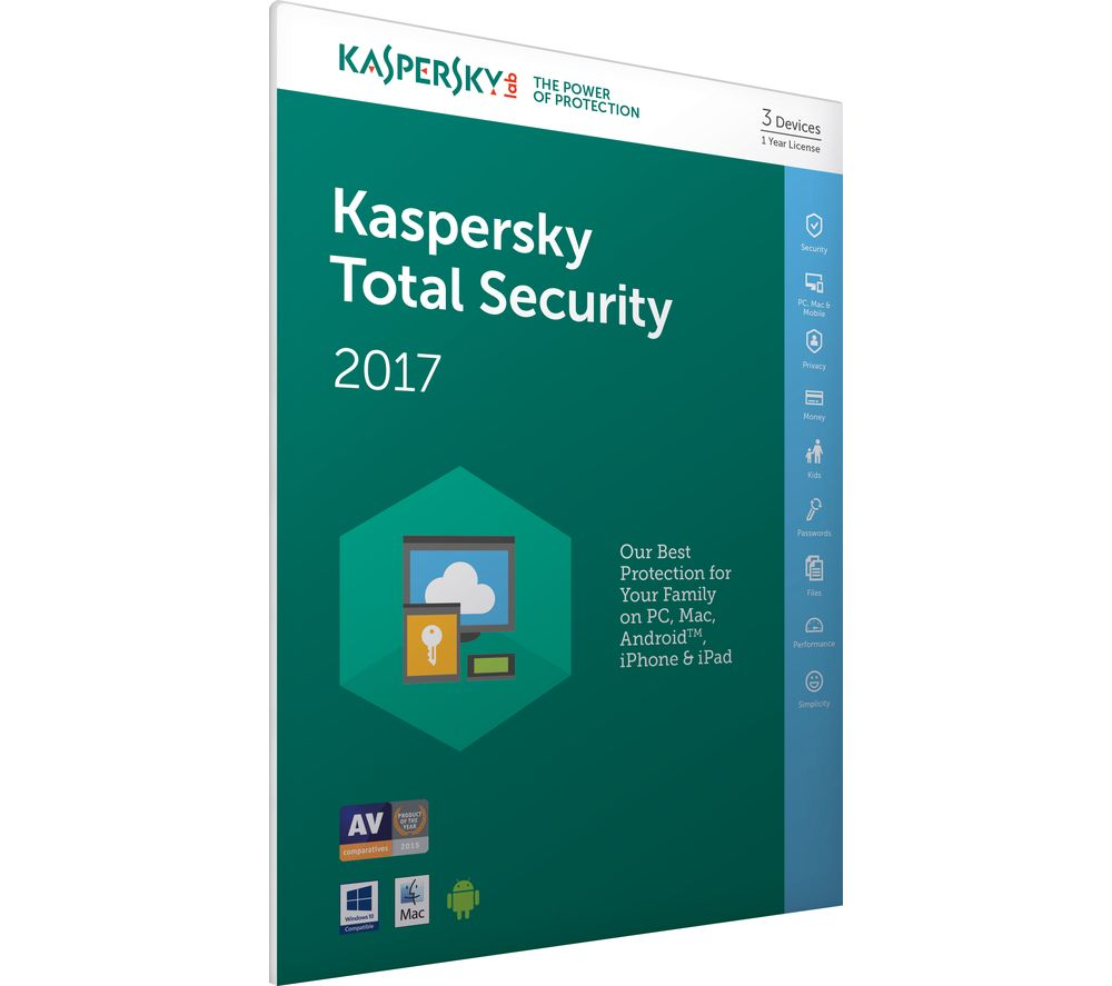 KASPERSKY Total Security 2017 (3 Devices for 1 Year)