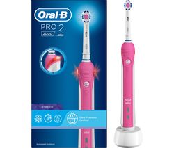 ORAL B Pro 2000 Electric Toothbrush - Pink