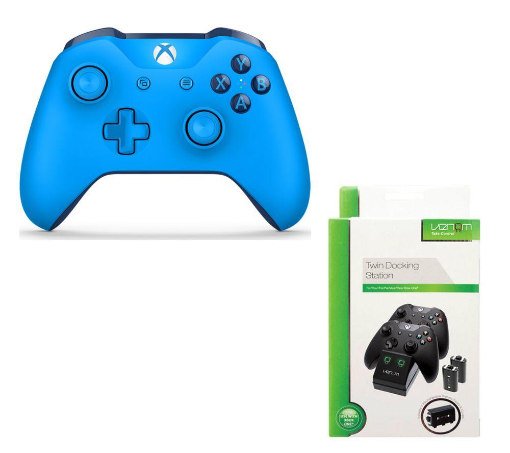 MICROSOFT Xbox One Wireless Gamepad & VS2851 Xbox One Twin Docking Station Bundle