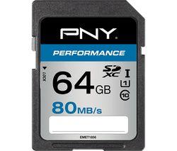 PNY High Performance Class 10 SDHC Memory Card - 64 GB
