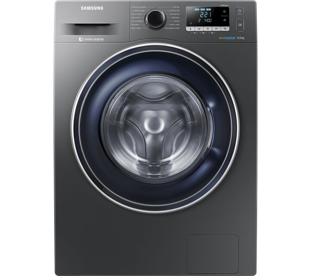 SAMSUNG ecobubble WW90J5456FX 9 kg 1400 Spin Washing Machine - Graphite