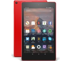 AMAZON Fire HD 8 Tablet with Alexa (2017) - 16 GB, Punch Red
