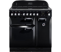 RANGEMASTER Elan 90 Electric Ceramic Range Cooker - Black & Chrome