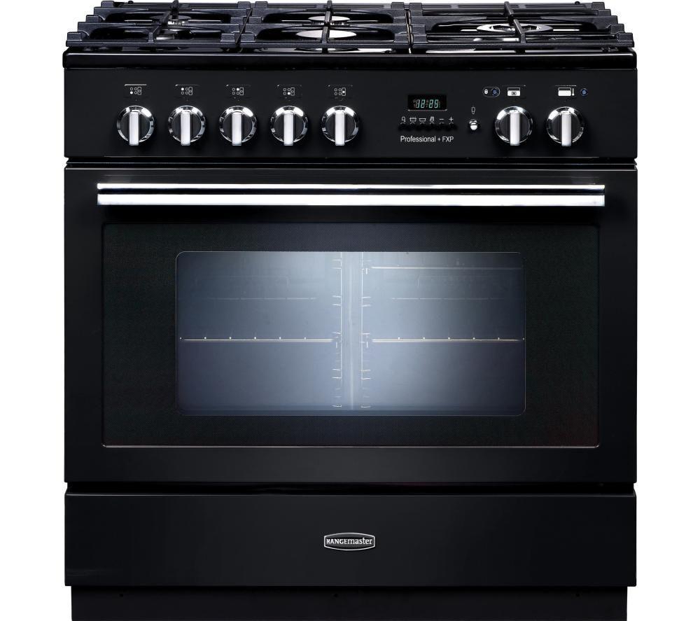 RANGEMASTER Professional+ FXP 90 Dual Fuel Range Cooker - Black