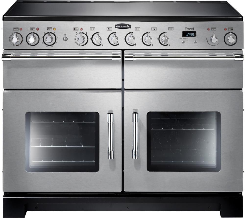 RANGEMASTER Excel 110 Electric Ceramic Range Cooker - Stainless Steel